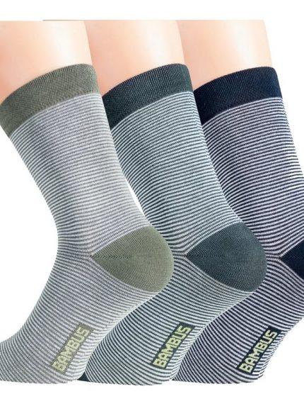 črtaste nogavice iz bambusa
