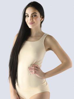 Majica iz bambusa v kožni barvi za ženske