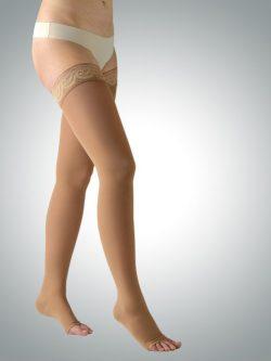 Medicinske kompresijske samostoječe nogavice 360 den kožna