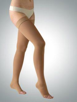 Medicinske kompresijske samostoječe nogavice 360 den trak kožna