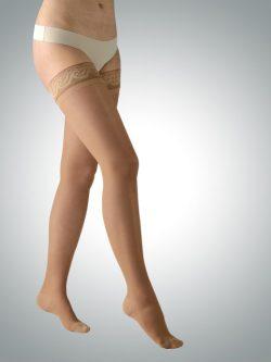 Avicenum 140 den kompresijske samostoječe nogavice kožna