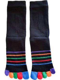 Črtaste nogavice na prste za moške in ženske