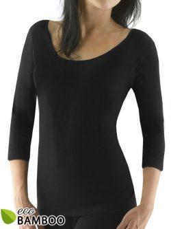 Ženska majica s krajšimi rokavi | 80% Eko Bambus - črna
