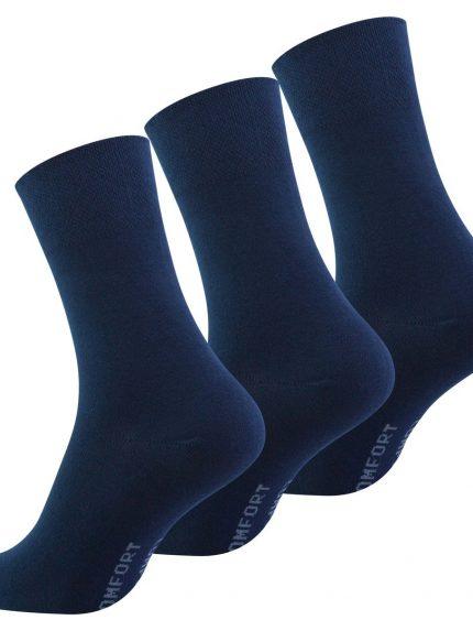 Diabetične nogavice 3 pari temno modre