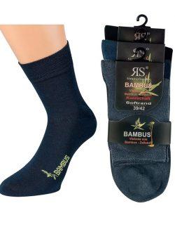 Komplet treh parov nogavic iz bambusa črna temno siva temno modra