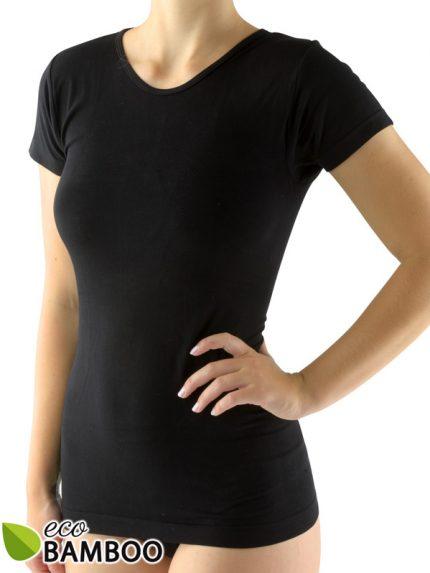 Ženska majica iz bambusa s kratkimi rokavi Eco Bamboo - črna