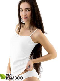 Ženska majica iz bambusa z ožjimi rokavi Eco Bamboo - bela