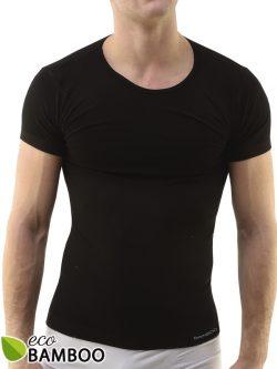 Moška majica iz bambusa s kratkimi rokavi Eco Bamboo - črna