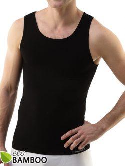 Moška majica iz bambusa brez rokavov Eco Bamboo - črna