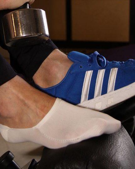 Moške stopalke bele