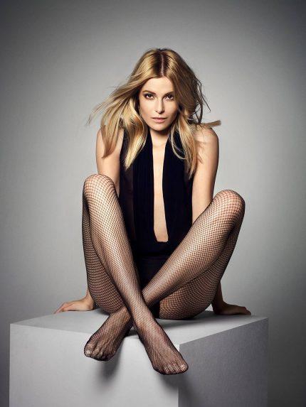 Mrežaste hlačne nogavice Rete - črna