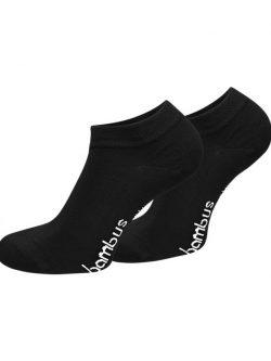 Nizke črne nogavice iz bambusa