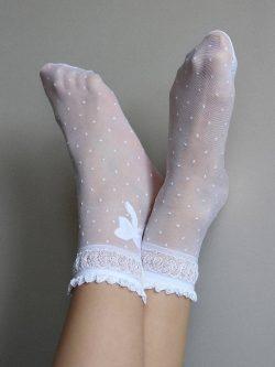 Nogavičke Alice - bele