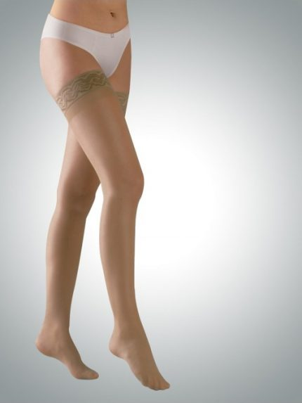 Avicenum 70 den preventivne kompresijske samostoječe nogavice kožna