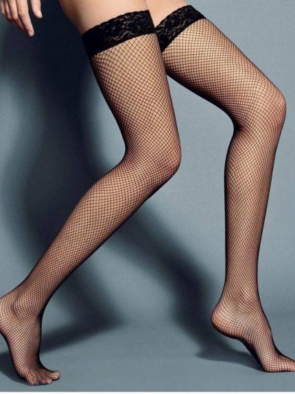 Mrežaste samostoječe nogavice Rete