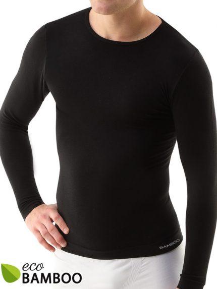 Moška majica iz bambusa z dolgimi rokavi Eco Bamboo - črna