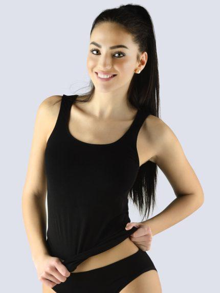 Ženska majica iz bambusa brez rokavov Bsoft - črna