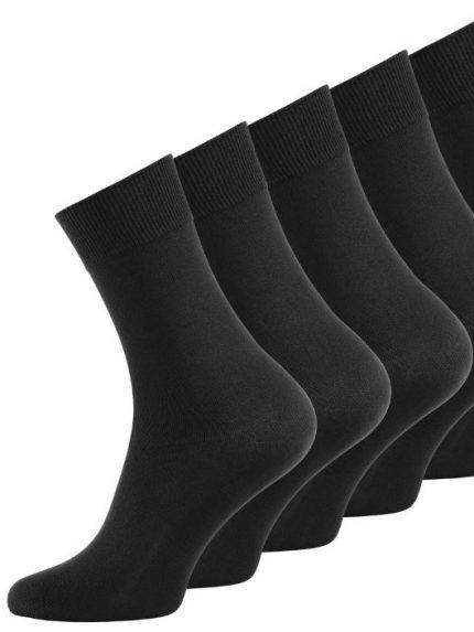Črne moške nogavice 5 parov