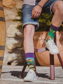 Pisane nogavice Vinograd