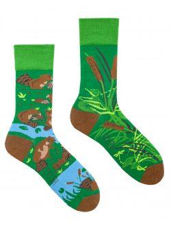Pisane nogavice Bobri