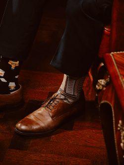 Pisane nogavice Viski