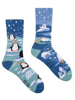 Pisane nogavice Pingvini in polarni medvedi
